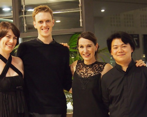 Flinders Quartet after the concert